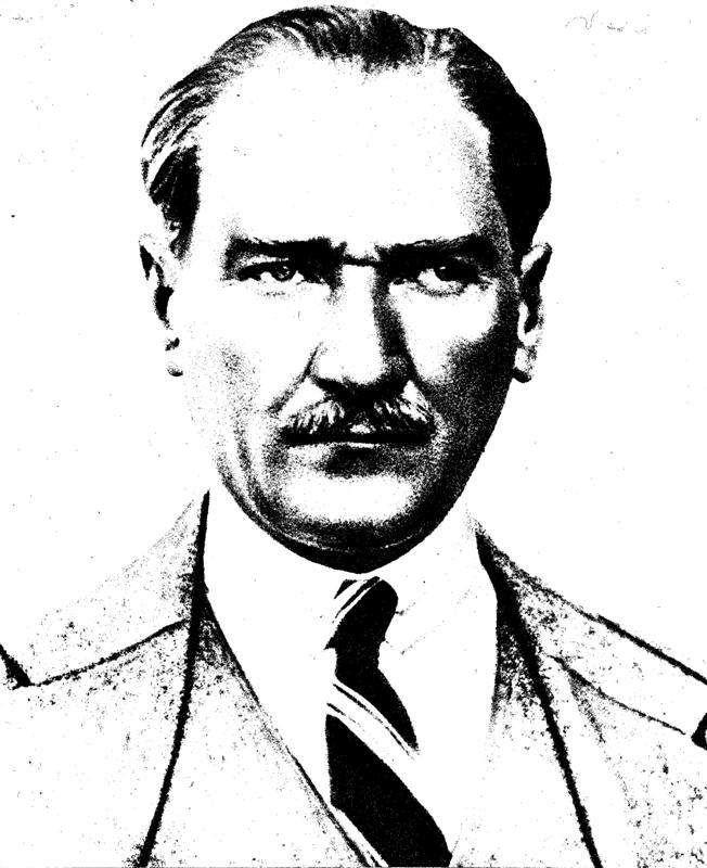 Karakalem Ataturk Portresi Resim Portre Resimler