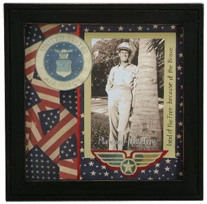"""US Air Force Scrapbook Frame SIZE: 8.75"""" Square. $18.50"""