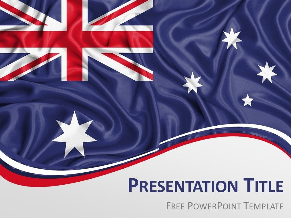 Australia Flag Powerpoint Template Presentationgo In 2019