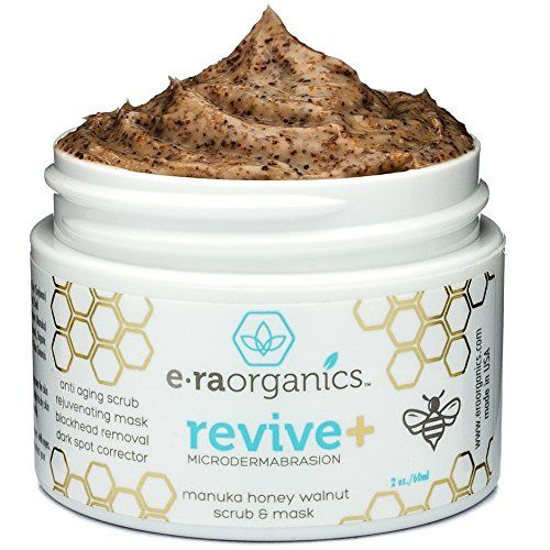Photo of Era Organics Microdermabrasion Facial Scrub & Face Exfoliator – Spa Quality Exfoliating Face Mask with Manuka Honey & Walnut – Moisturizing Facial Exfoliant for Dry Skin, Blackheads, Wrinkles, Acne +