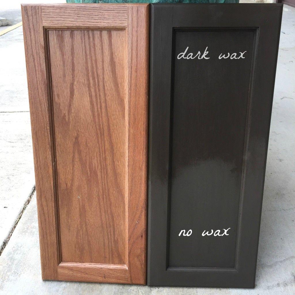 Annie Sloan Dark Chocolate Brown Master Bathroom Cabinet Makeover