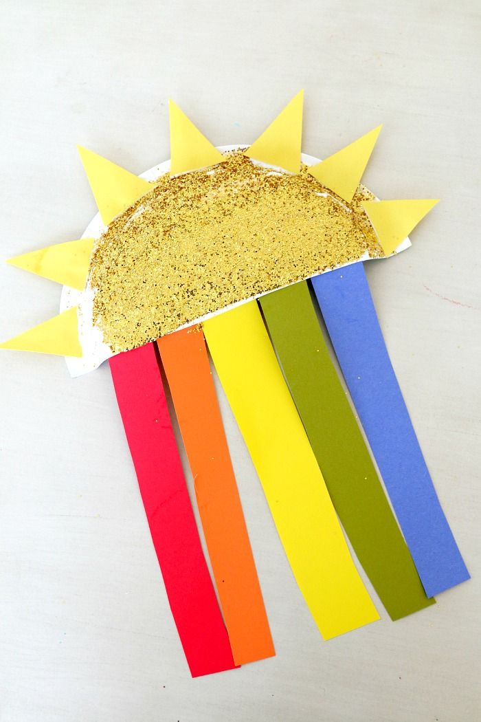 Paper Plate Sun And Rainbow Craft Fun For Kids Of All Ages