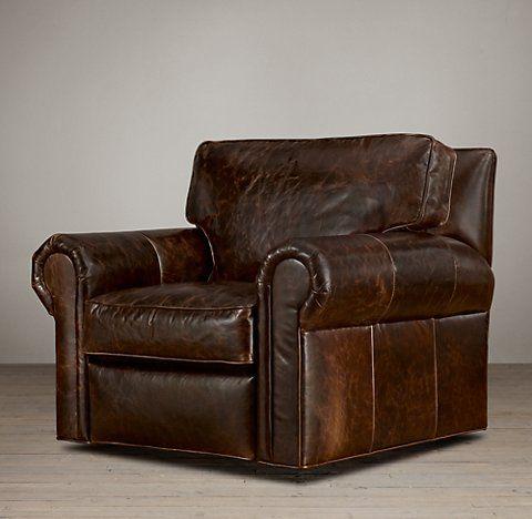 Recliners U0026 Swivels | RH Lancaster Leather Swivel Chair
