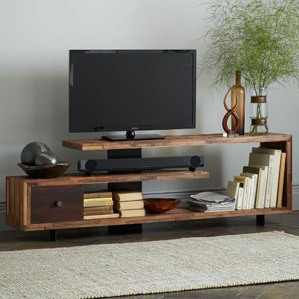 die besten 25 tv tisch ideen auf pinterest fernsehtisch holz salon und beistelltische und tv. Black Bedroom Furniture Sets. Home Design Ideas