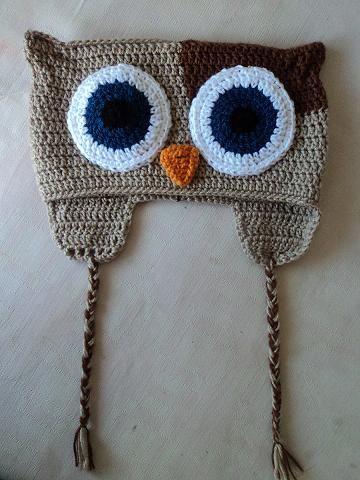 gorro buho - Lussi Lu   crochet   Pinterest   Lana, Patrones y Chicas