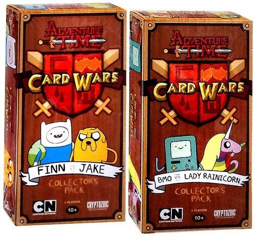 Adventure Time Card Wars Game Set Of Both Collector Packs Finn Vs