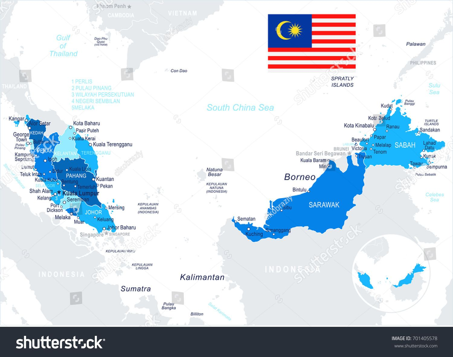 Malaysia Map And Flag Vector Illustration Sponsored Map Malaysia Flag Illustration Flag Vector Vector Illustration Illustration