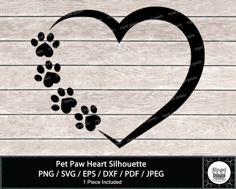 37++ Dog paw heart clipart information