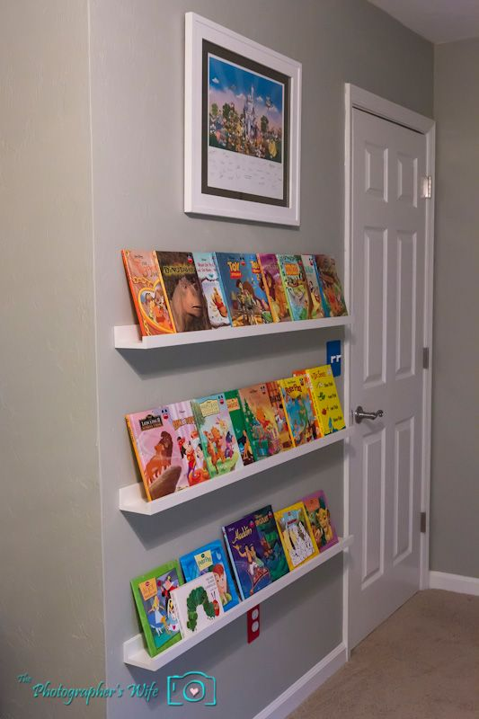 Ikea picture ledges for childrens front facing book for Bookcases for kids room