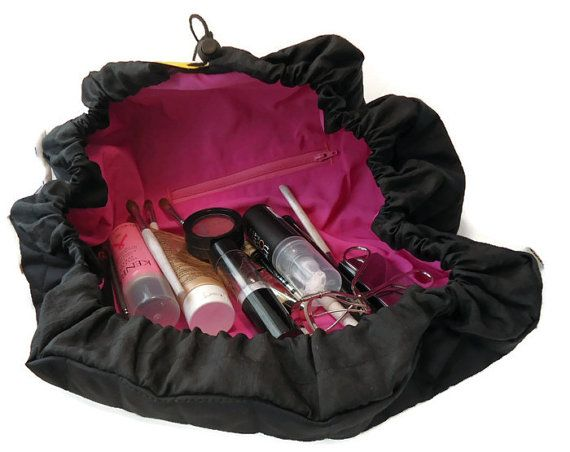 5a37a516ce1b68 Travel Bag, Travel Tray, Makeup Bag, Cosmetic Case, Cinch Sack by  SwingCoat, $22.00