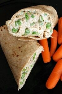 Quick Curried Chicken Salad with Peas