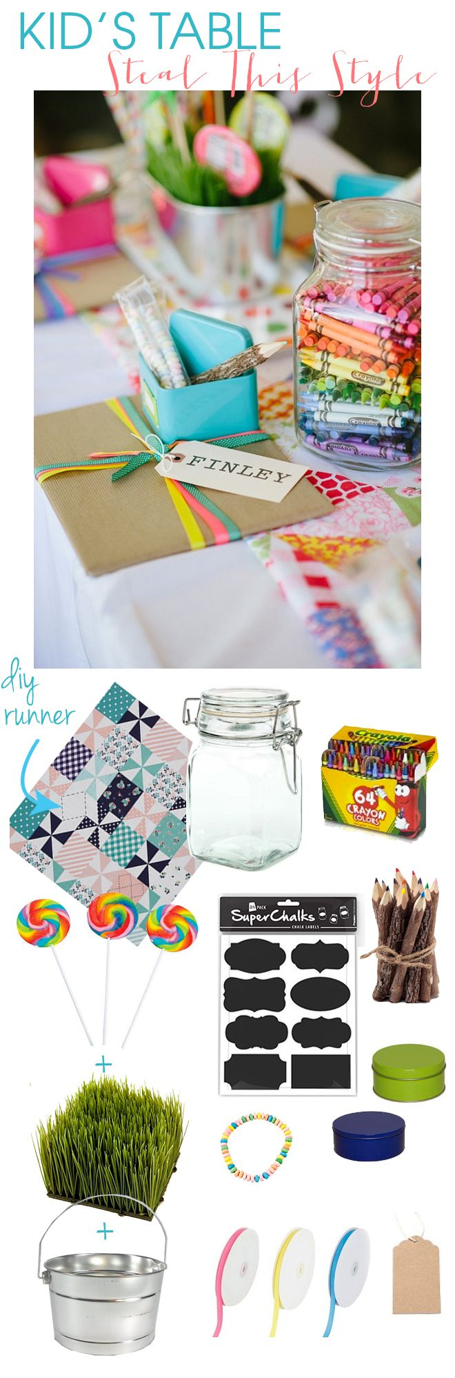 Fun and FREE ideas to create a happy, wedding kids table! | Kid ...