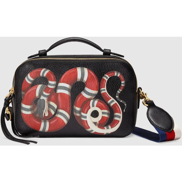 Gucci Snake Print Leather Top Handle Bag 1 750 Liked On Polyvore Featuring Bags