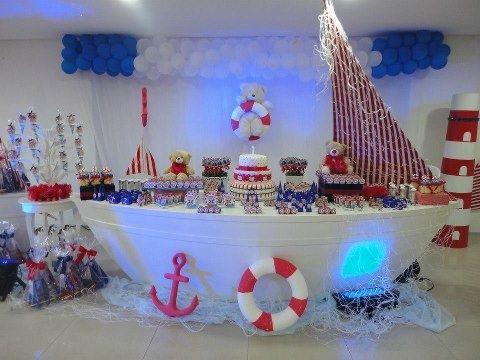 060ed3d09251b630b48aad60b1b49c1e Jpg 480 360 Decoración De Barco Cumpleaños Marinero Ideas Fiestas Tematicas
