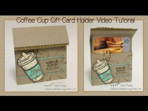 Coffee Cup Gift Card Holder