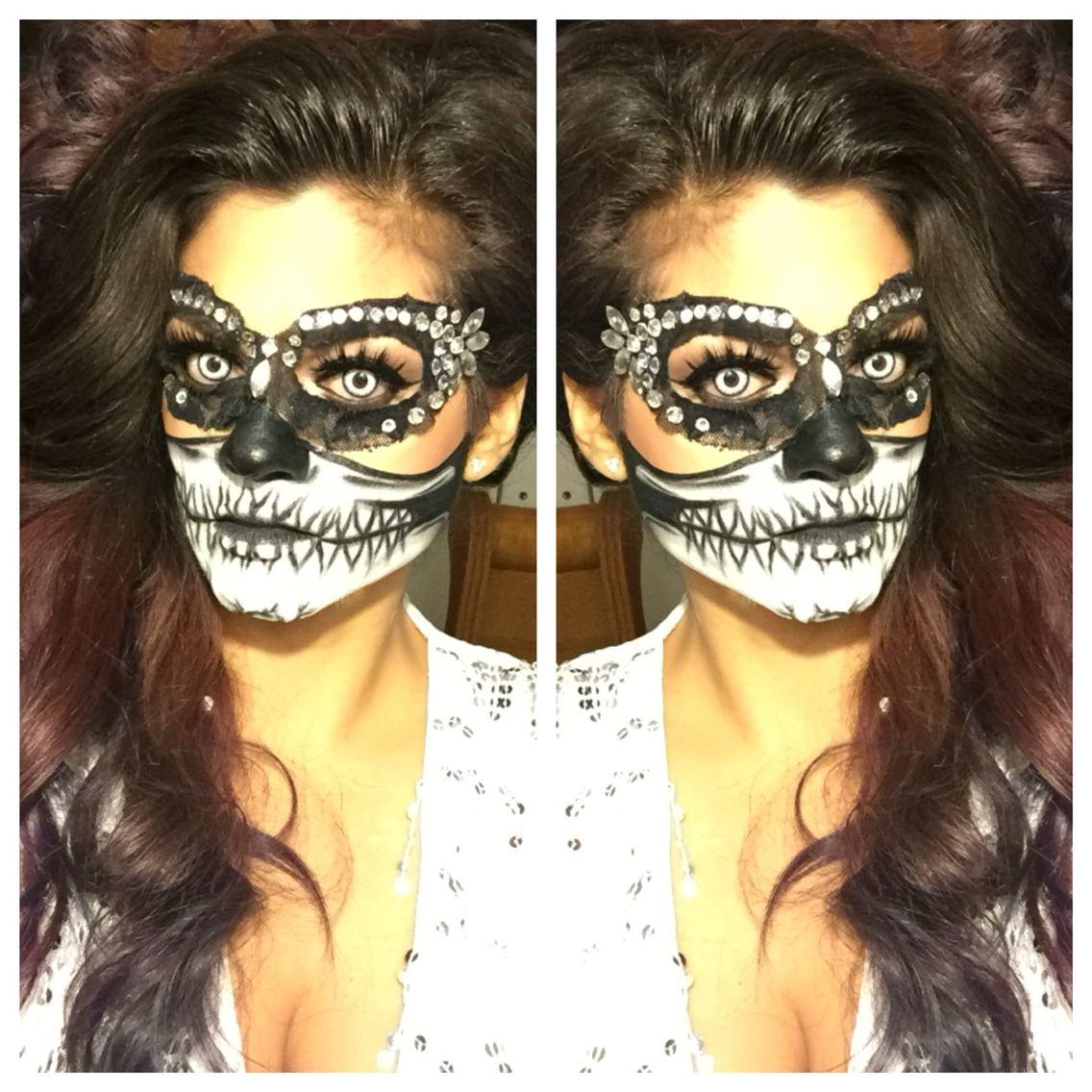 Halloween makeup. Stars to Skulls on Facebook. Joy