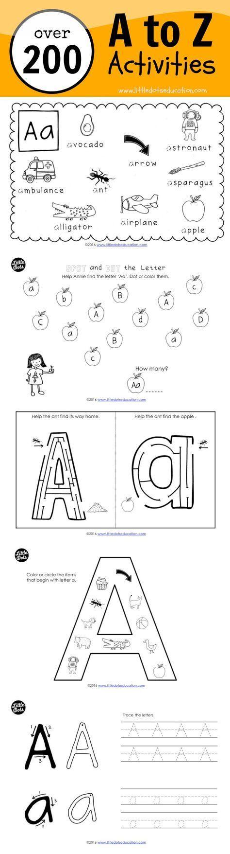 Preschool Alphabet Activities and Worksheets   Alphabet activities preschool [ 1756 x 474 Pixel ]