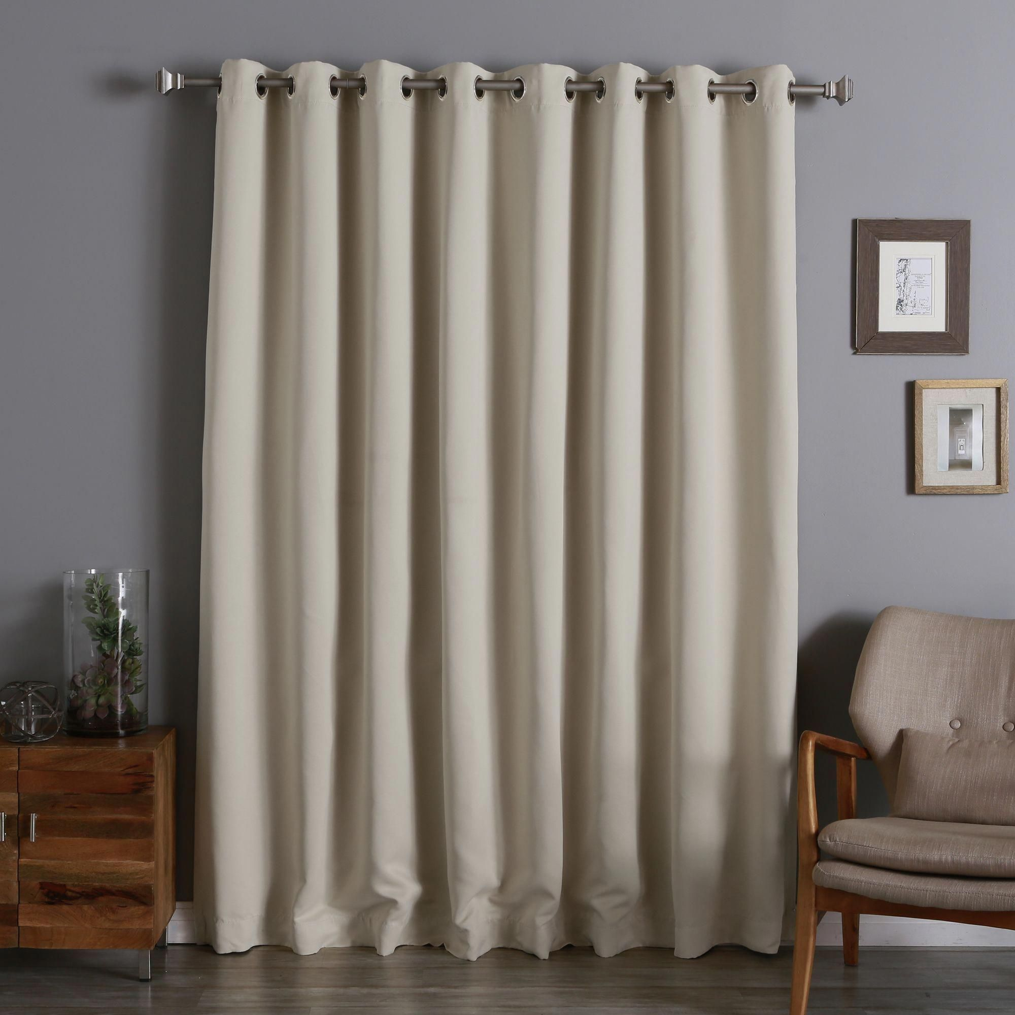 Aurora Home Extra Width Thermal Insulated 96 Inch Blackout Curtain