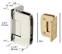 R0m044pn Crl Polished Nickel Roman 044 Series Wall Mount Offset Back Plate Hinge Frameless Shower Doors Hardware Polished Nickel Shower Door Hardware