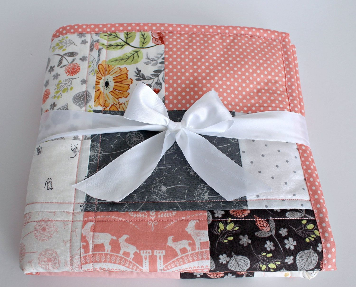 modern baby quilt baby quilts u0026 grey nursery baby girl quilt coral nursery woodland nursery bedding baby quilts