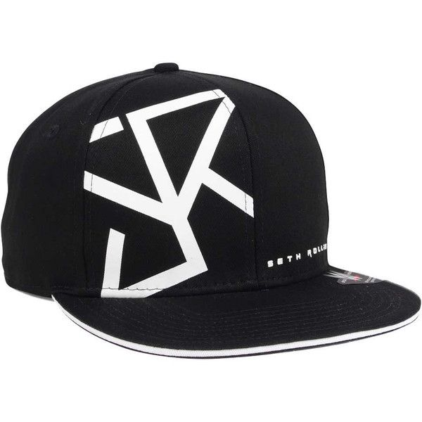 low priced 28c8a 286a8 WWE Seth Rollins Curved Snapback Cap ( 32) ❤ liked on Polyvore featuring  accessories, hats, snapback cap, wwe, snap back cap, wwe hat and cap  snapback