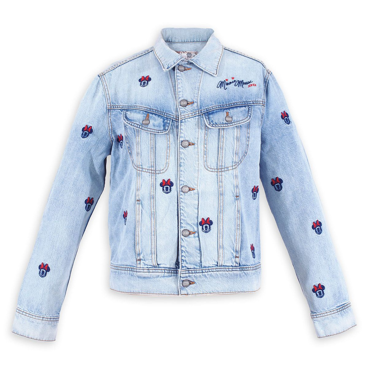 Minnie Mouse Embroidered Denim Jacket By Siwy Embroidered Denim Jacket Denim Accessories Denim Jacket [ 1200 x 1200 Pixel ]