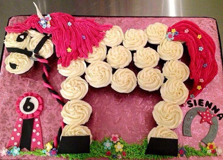 Cupcake Horse Food Cupcakes Pinterest Birthday Cakes Cake