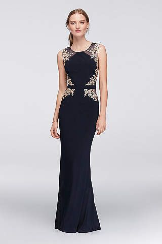 Black And Gold Evening Gown By David S Bridal Dresses Dresses
