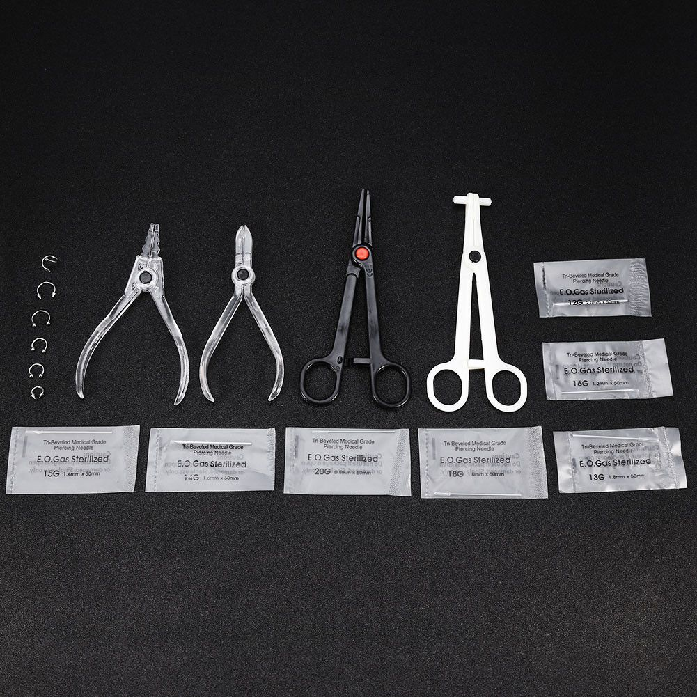 Piercing nose at home with needle   GBP  Pro Body Piercing Kit Needle Nipple Tongue Eyebrow Nose