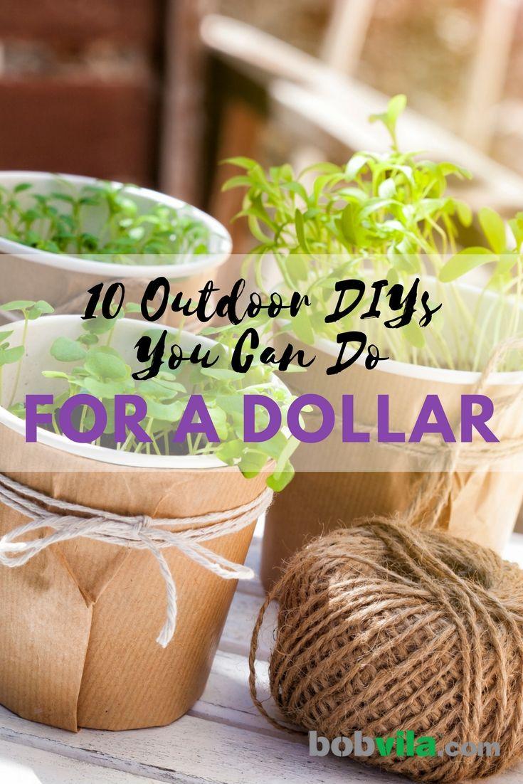 10 Outdoor DIYs You Can Do for a Dollar Diy garden decor