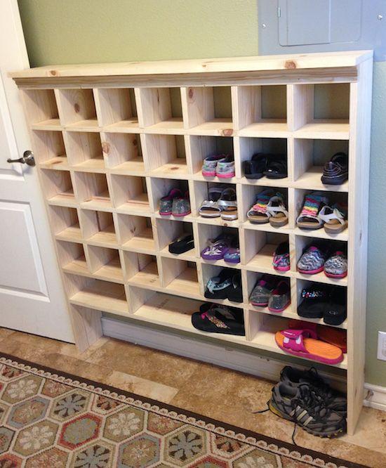 Reader Spotlight Kristi S Diy Shoe Cubby Shoe Cubby Diy Shoe