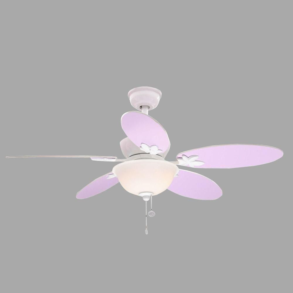Hampton Bay Harper Iii 44 In Indoor White Ceiling Fan With Light Cover On Fans Wiring Kit