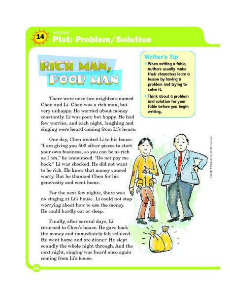 Plot Problem Solution Worksheets Lesson Planet Personal