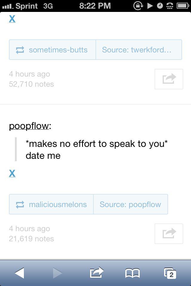 My flirtation skills