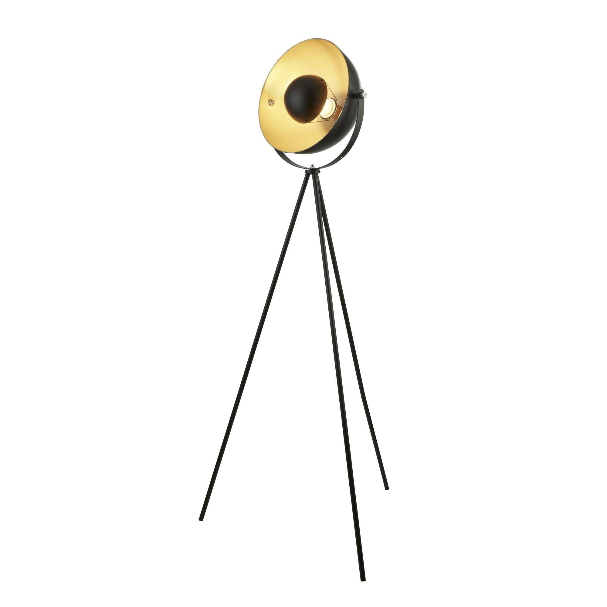 Searchlight Blink 1Lt Tripod Floor Lamp, Matt Black With