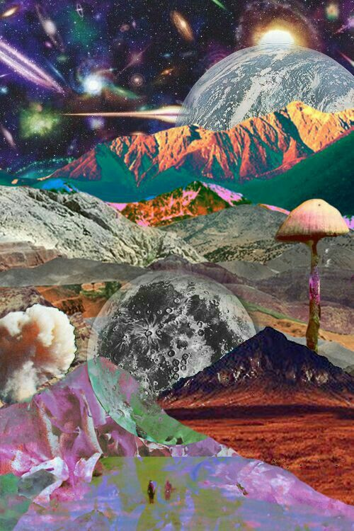moon, psychedelic, and wallpaper image | Psychedelia ...