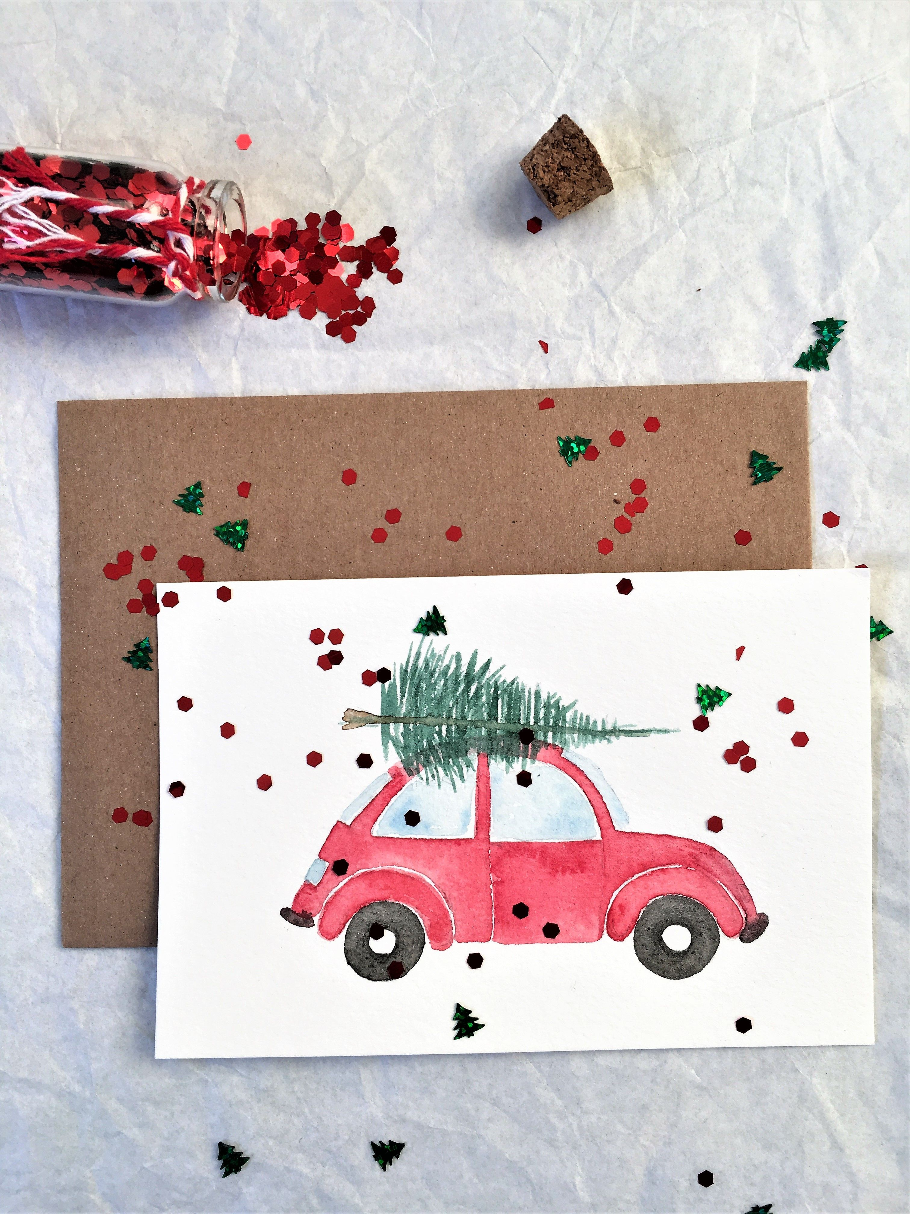 Get Your Christmas Card Digital This Year And Save On That Paper Going Paperless Is A Diy Christmas Cards Watercolor Christmas Cards Christmas Cards Handmade