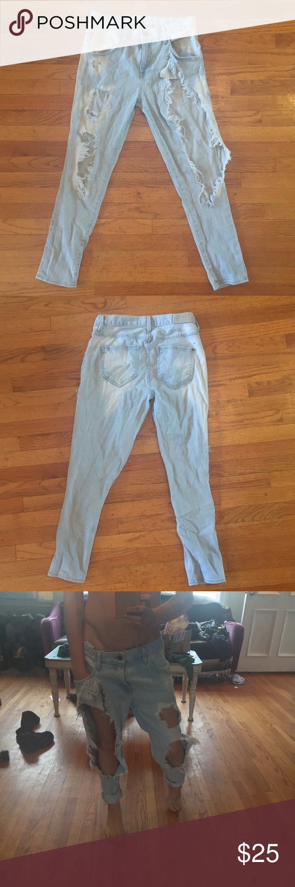 Wildfox Couture Marissa distressed boyfriend jeans Wildfox Couture Marissa ultra distressed boyfriend jeans. Size 24 but could work for a 25. I love these but I need to make room in my closet. All prices are negotiable! Make me an offer! ☺️ Wildfox Jeans Boyfriend