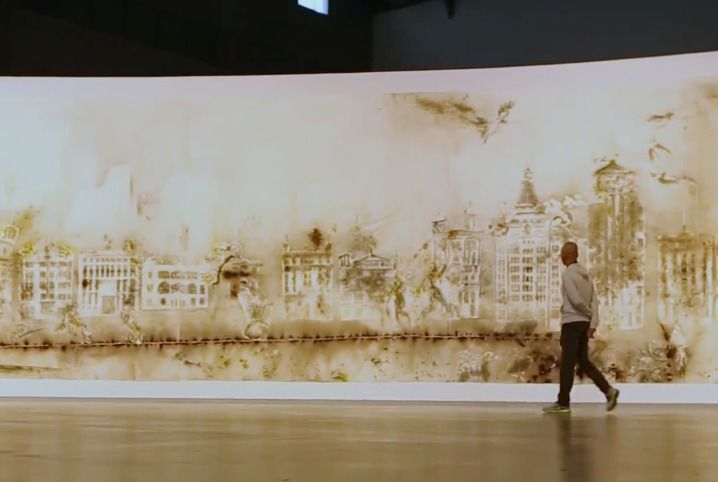 CNN - The artist who 'paints' with explosives