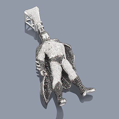 Batman Boy charm pendant necklace cartoon style Heavy Chain