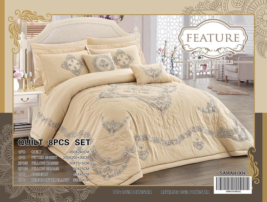 طقم غطاء لحاف سادين مزدوج بيج مزخرف عدد القطع 6 100 Cotton Duvet Covers Cotton Duvet Cover Duvet Cover Sets