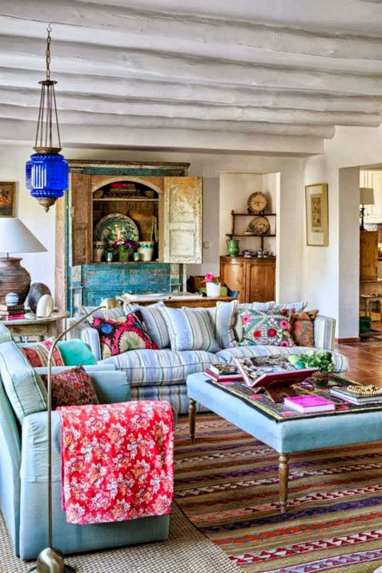 78 Comfy Modern Bohemian Living Room Decor And Furniture Ideas