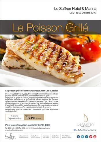 Le suffren hotel marina festival culinaire le poisson grill au restaurant la boussole t l - Restaurant poisson grille paris ...