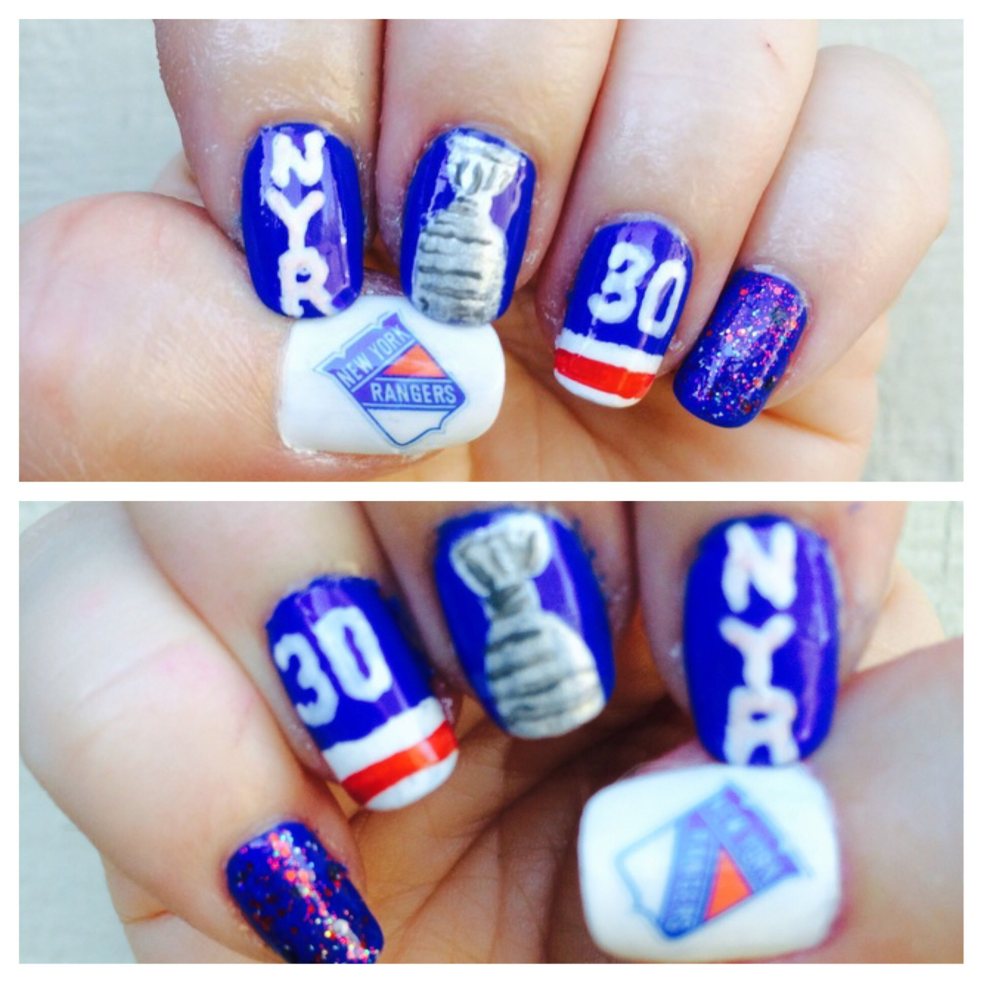 New York Rangers Nail Art
