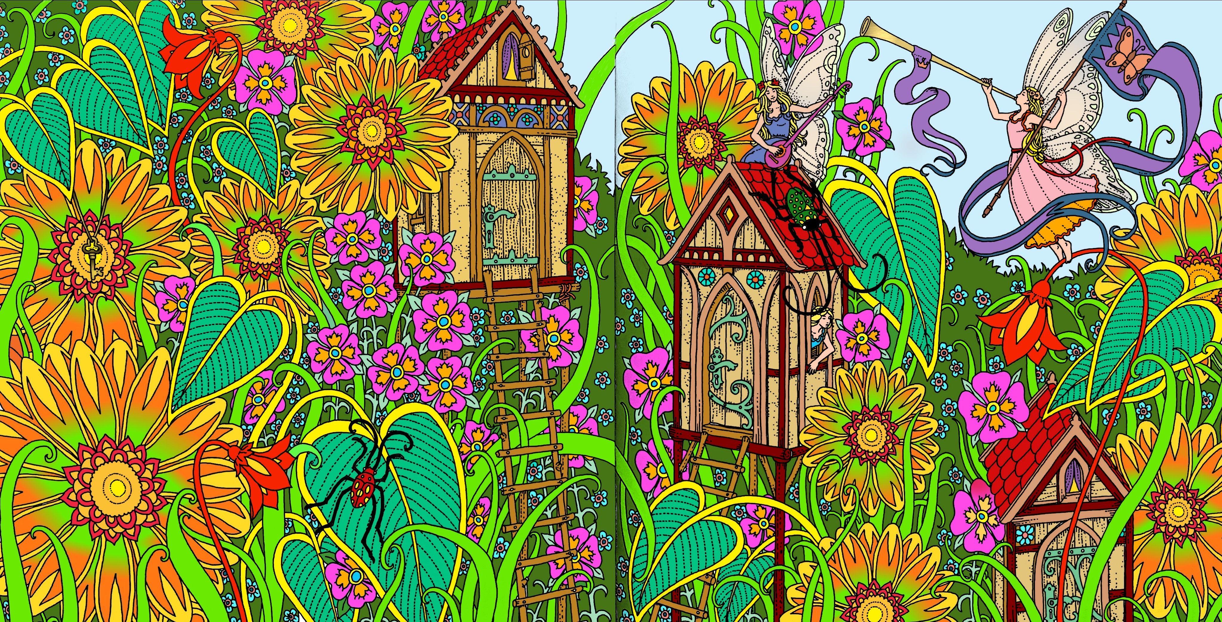 Coloring Book Zemlja Snova By Tomislav Tomic Digitally Colored Using Pigment App On Ipad Pro Coloring Books Coloring Book Pages Painting