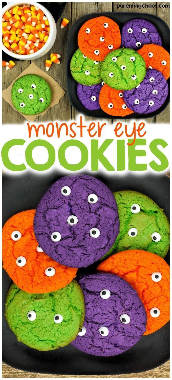 10 Spooky Halloween Dessert Recipes - Love Swah   Fun Halloween Monster Cookies