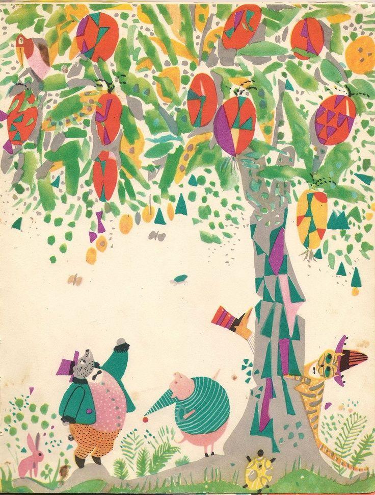 Ilustration: Ignacy Witz Autorka: Irena Tuwim Author: Pampilio Wydane: 'Nasza Księgarnia', Warsaw, Poland, 1962.