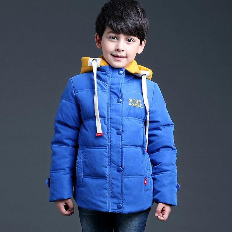 (Buy here: http://appdeal.ru/2fy2 ) 2015  Detachable cap  Warm fleece Child boys winter jacket Duck Down Children Boys Parka boy winter coats clothes for teen boys for just US $33.22