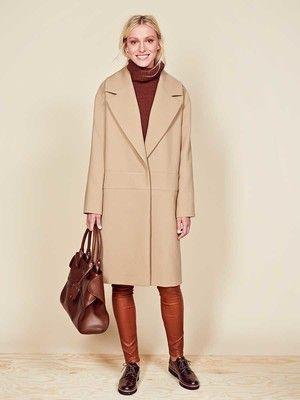 burda style, Schnittmuster - Der H-Linien-Mantel mit breitem, tief ...