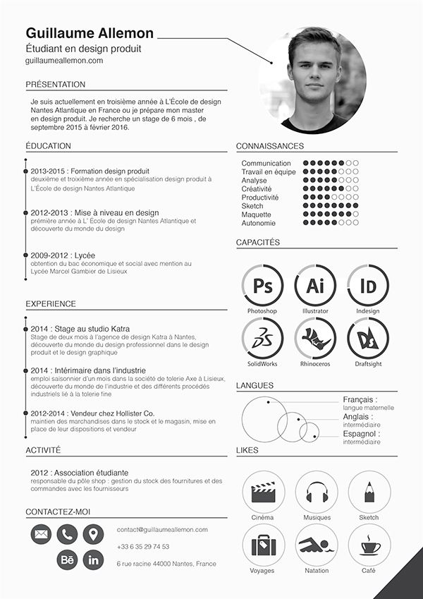 New Resume On Behance Curriculo De Designer Grafico Ideias Curriculos Curriculum Criativo